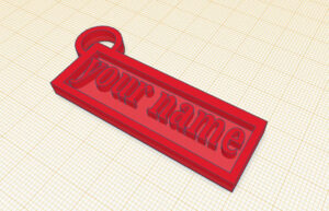 Dive Into Design: TinkerCAD Personalized Key Chain